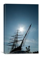 Masts and Prow of the Cutty Sark, Canvas Print
