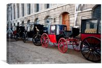 Old Coaches, Canvas Print