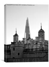 London's Towers - Black and White, Canvas Print