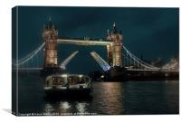 Tower Bridge and River Boat, Canvas Print
