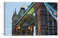 Olympic Symbol on Tower Bridge, Canvas Print