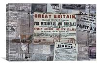 Great Britain for Melbourne and Brisbane, Canvas Print