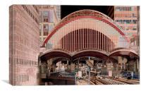 Canary Wharf DLR Station, Canvas Print