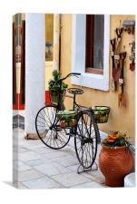 Paxos Bicycle, Canvas Print