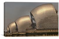 Thames Barrier Wrapped, Canvas Print