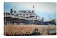 Brighton Pier Beach, Canvas Print