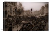 Oxford Bikes, Canvas Print