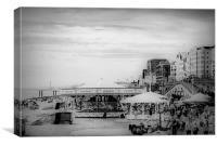 Carousels on Brighton Beach, Canvas Print