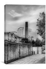 Old Chimney, New Buildings, Canvas Print