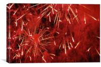 Red Explosion, Canvas Print