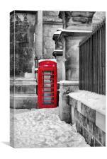 Oxford Telephone Box, Canvas Print