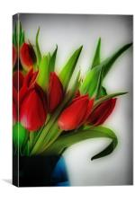 Red Tulips, Blue Vase