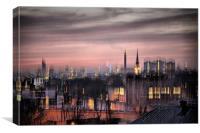 Dreamy City Skyline, Canvas Print