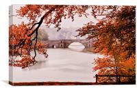 Blenheim Palace - The Grand Bridge, Canvas Print