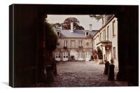 Bayeaux Courtyard, Canvas Print
