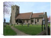 ST.CHRISTOPHER'S CHURCH, WILLINGALE, ESSEX, Canvas Print