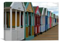 Southwold Beach Huts, Canvas Print