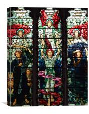 LEADED LIGHT WINDOW AT CHELMSFORD CATHEDRAL., Canvas Print