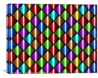 Coloured cubic abstract