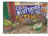 Vintage signs and bike