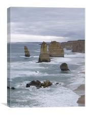 Ocean Pillars , Canvas Print