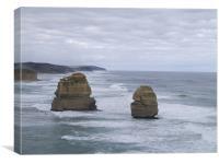 Ocean Pillars 2, Canvas Print
