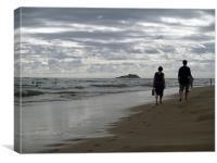 Grey Day on The Beach, Canvas Print