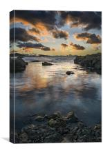 Dunure at Dusk, Canvas Print