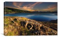 Loch Doon at sunset, Canvas Print