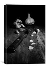 Garlic CSI, Canvas Print