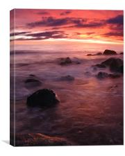 Newton beach sunset, Canvas Print