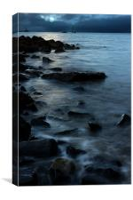 Moonlit Bay in Ayr, Canvas Print