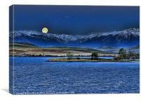 Moon Over Cooney, Canvas Print