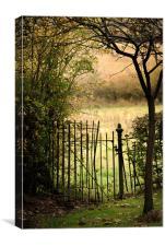 An old secret gate, Canvas Print