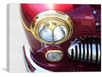 Custom headlight, Canvas Print
