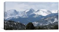 Rocky mountains 1275, Canvas Print