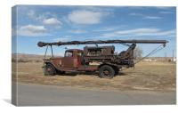 Antique truck 0671, Canvas Print