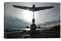 HS Trident 3 at Manchester Airport, Canvas Print