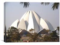 The Lotus Temple, Delhi , Canvas Print