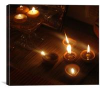 Candle Light , Canvas Print