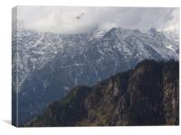 Snowfall View at Manali!!!, Canvas Print