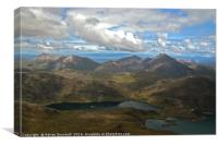 Red Cuillin and Blaven, Skye, Canvas Print