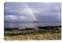 Oil Rig and Rainbow