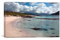 The beach at Paible on the island of Taransay, Canvas Print