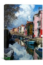 Burano View, Canvas Print