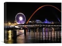 Tyne - Quayside Tall Ships Night , Canvas Print