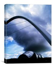 Tyne - Sage Millennium Bridge and Cloud , Canvas Print