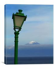 Spain - Pico del Teide from La Gomera 2 , Canvas Print
