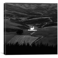 Landscape - Corgaff castle , Canvas Print