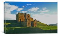 Coast - Tynemouth castle eveing light. , Canvas Print